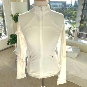 Lululemon white zip up jacket